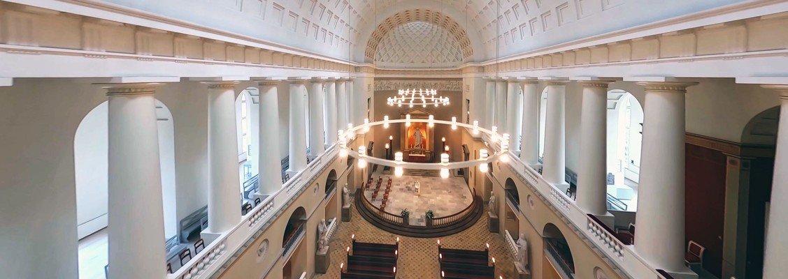Vor Frue Kirke er blevet filmet med drone