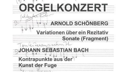 Orgelkonzert Bach/Schönberg am 26. September