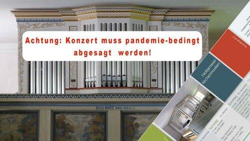 Orgelkonzert abgesagt!