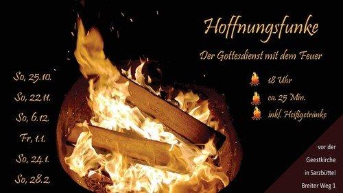 Hoffnungsfunke – der Gottesdienst mit dem Feuer