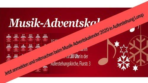 Mach mit beim Musik-Advenstskalender 2020!