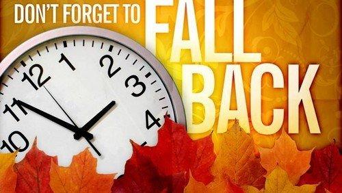 Fall Back - November 1st