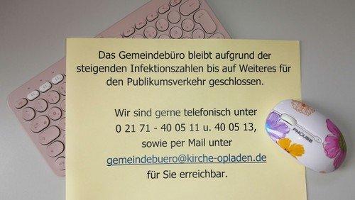 Geänderte Öffnungszeiten des Gemeindebüros