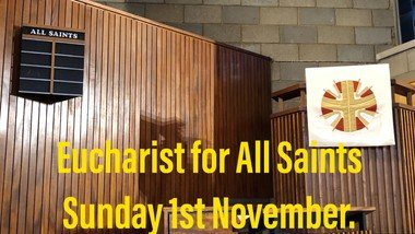 All Saints Day: 9.30 am Service