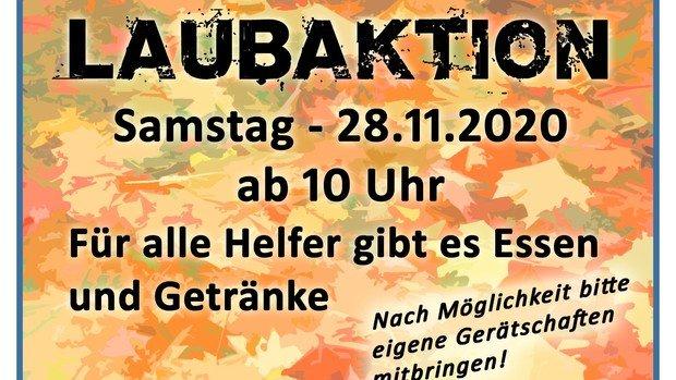 Laubaktion in Konradshöhe-Tegelort am 28.11.2020 um 10 Uhr