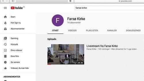 Se gudstjenester online fra Farsø Kirke