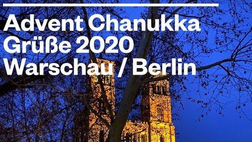 Advent–Chanukka  Grüße 2020 Warschau / Berlin