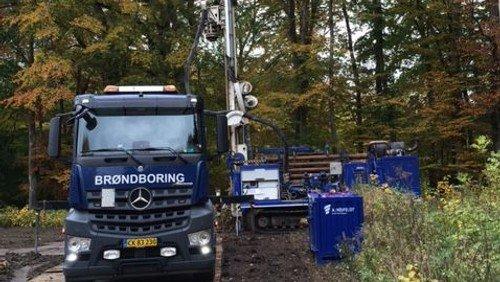 Prøveboring efter vand i Søskoven