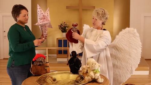 Julehilsen i børnehøjde