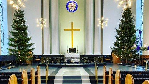 Kirken er lukket til og med 3. januar