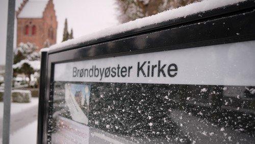 Snevejr over Brøndbyøster