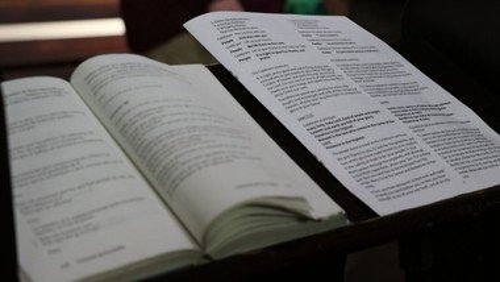 January 12 Evening Prayer bulletin