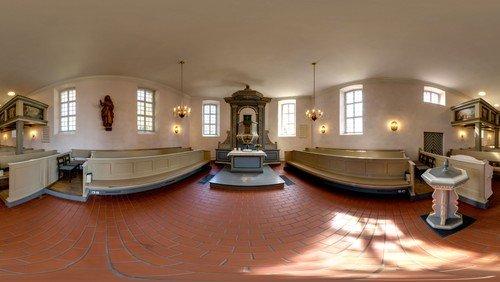 360°-Panorama-Ansicht der Dorfkirche