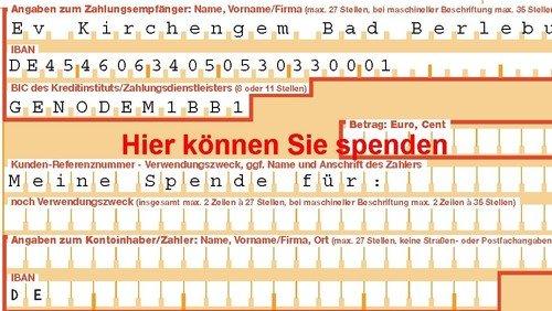 Spendenportal der Evangelischen Kirchengemeinde Bad Berleburg.