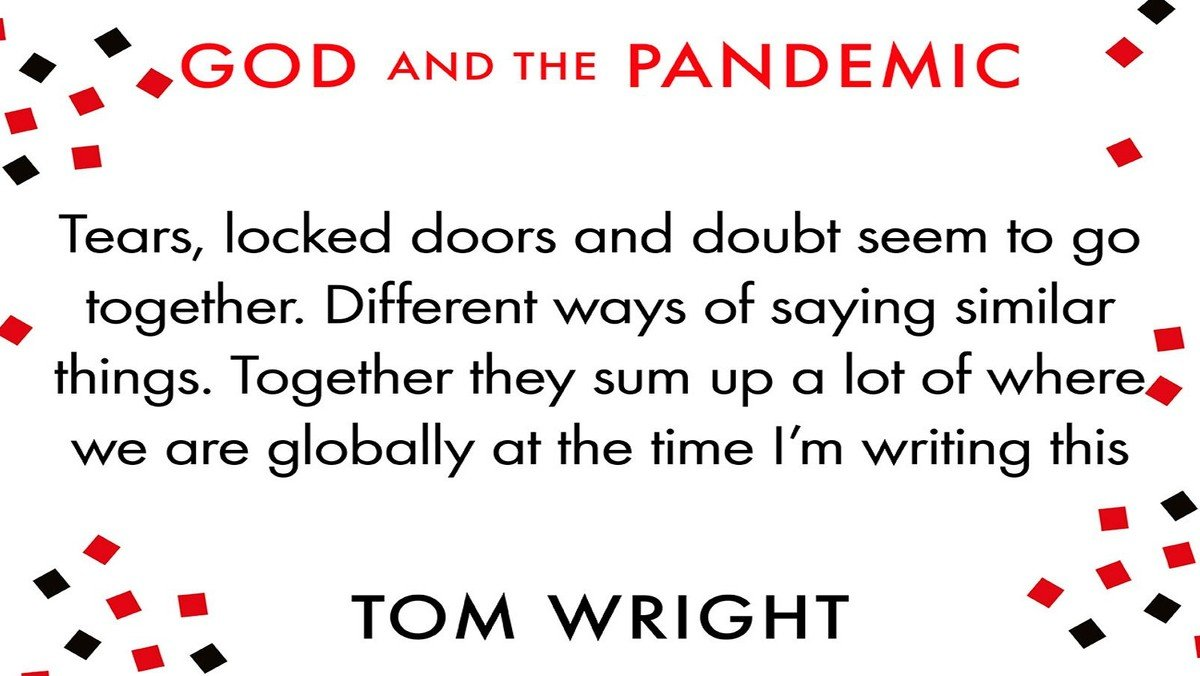 Lent Study - God and the Pandemic by Tom Wright