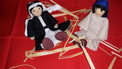 Maria und Josef im Advent in der Kita