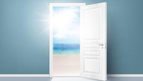 En åben og en lukket dør