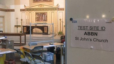 Ready and waiting! St John's is a COVID rapid testing centre.  Monday - Friday 8 - 10.30