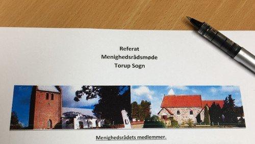 Referat af menighedsrådsmøde