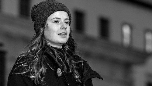 Klimaschutzaktivistin Neubauer im Berliner Dom