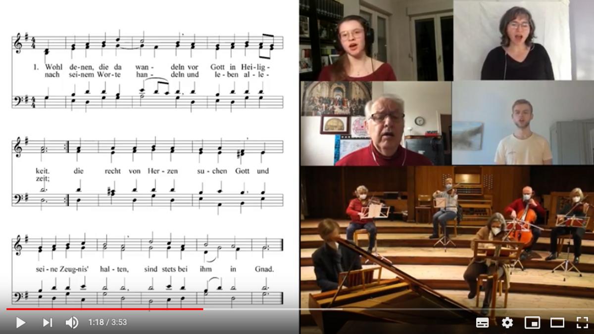 """""""Wohl denen die da wandeln"""" - Video des Abschlussliedes der Kreissynode"""