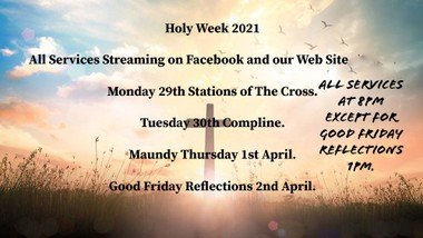 Holy Week 2021 Livestream Services