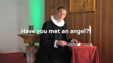 Mary met an angel in her kitchen. Have you ever met an angel?