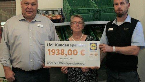 Juni 2019 - Großzügige Spende der Lidl Stiftung für die Tafel Reinfeld