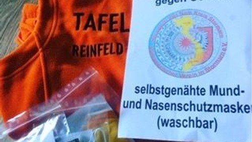 Mai 2020 - Selbstgenähte Schutzmasken für die Tafel Reinfeld