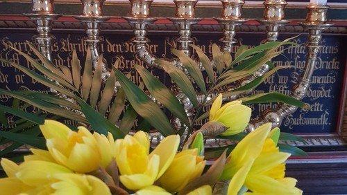 Ændring af gudstjenesten Palmesøndag i Onsbjerg kirke og Skærtorsdag i Nordby kirke