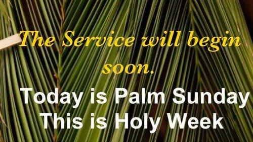 Livestream For Palm Sunday.