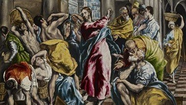 The cleansing of the temple  - Holy Monday