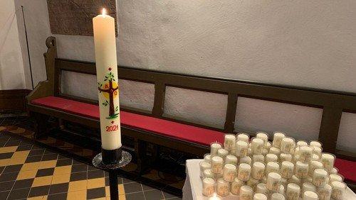 Oster- Hoffnungslichter in der Stadtkirche Biedenkopf