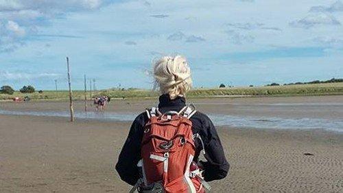 Med Kristine Stricker Hestbech på Lindisfarne (Dag 11 ud af 12)