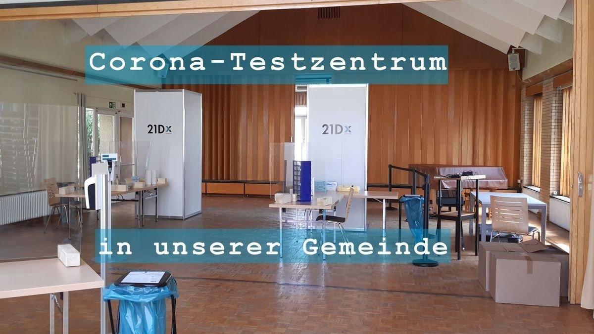 Corona-Testzentrum im Gemeindesaal der Dorfkirche Heiligensee
