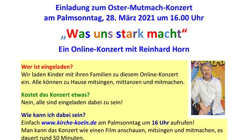 Oster-Mutmach-Konzert am Palmsonntag