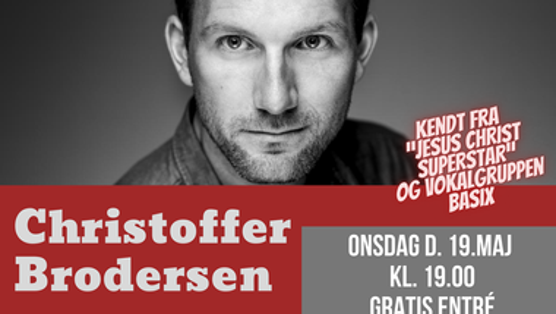 Gram Kirke: Pinsekoncert med  Christoffer Brodersen - RESERVER PLADS HER