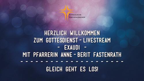 Gottesdienst-Livestream mit Pfarrerin Anne-Berit Fastenrath