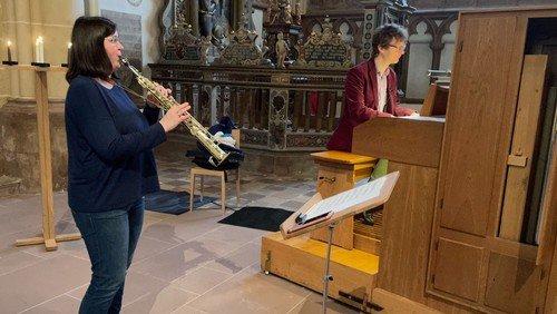 Saxophon und Orgel im Gottesdienst