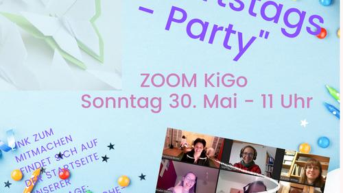 KiGo ZOOM-Geburtstagsparty - 30. Mai, 11 Uhr