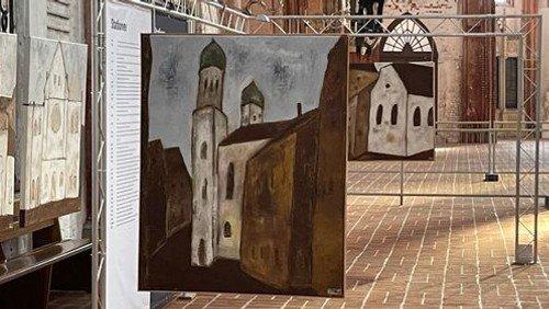 Die letzten Tage der viel beachteten Ausstellung von Alexander Dettmar - Painting to remember - Zerstörte deutsche Synagogen