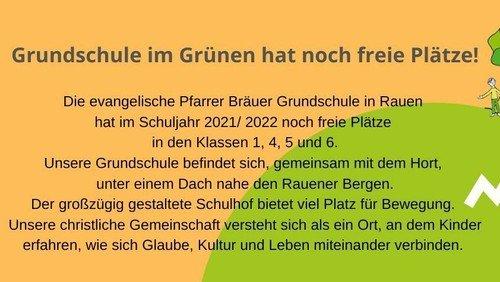 Grundschule in Rauen hat noch einige freie Plätze!