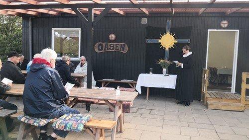 Høst- og friluftsgudstjeneste i Oasen