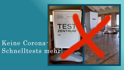 Testzentrum ab sofort geschlossen