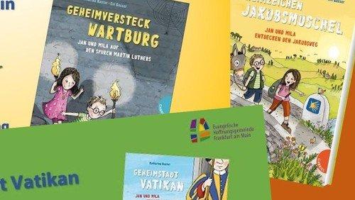 Bücher von Katharina Kunter -  Geheimversteck Wartburg * Geheimstadt Vatikan * Geheimzeichen Jakobsmuschel
