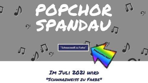 Schwarzweiß zu Farbe - Popchor singt für Trauerarbeit