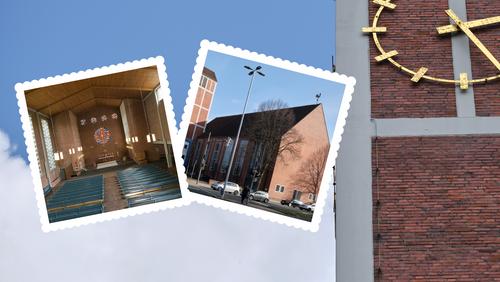 Backsteine, Beton und Dächer