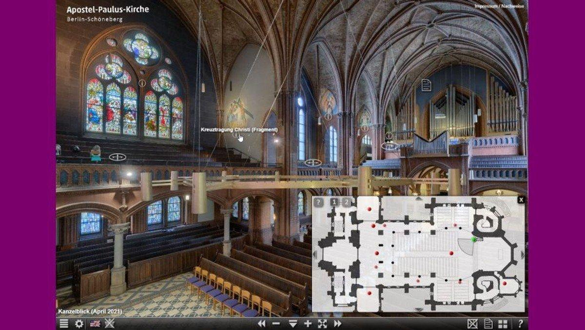 360-Grad-Panorama der Apostel-Paulus-Kirche: Virtuelles Rundum-Erlebnis auf Ihrem Bildschirm