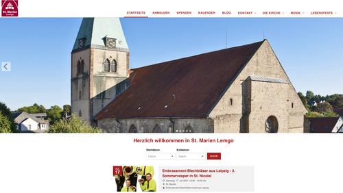 Neustart der Homepage