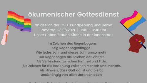 Gottesdienst anlässlich der CSD-Kundgebung und Demo